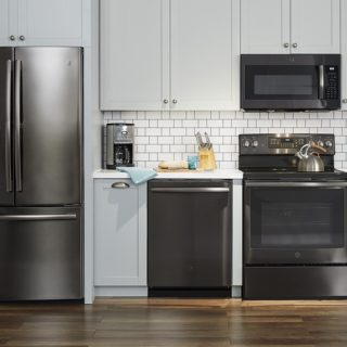 Design a Unique Kitchen with GE Black Stainless Kitchen Appliances
