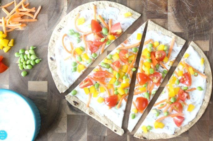Deliciously Easy Spring Veggie Pizza with Flatout Flatbread