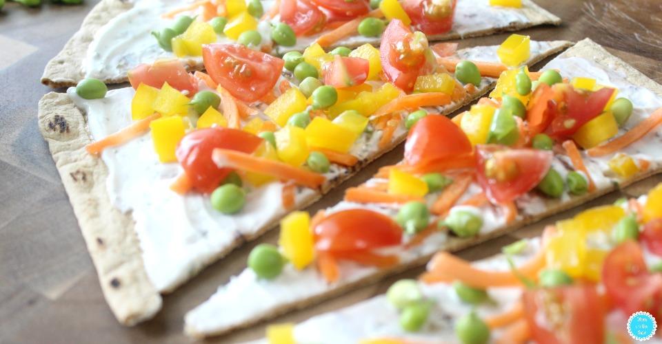 Flatout Flatbread Spring Veggie Pizza