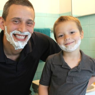 Stages Kids Go Through When Dad Shaves