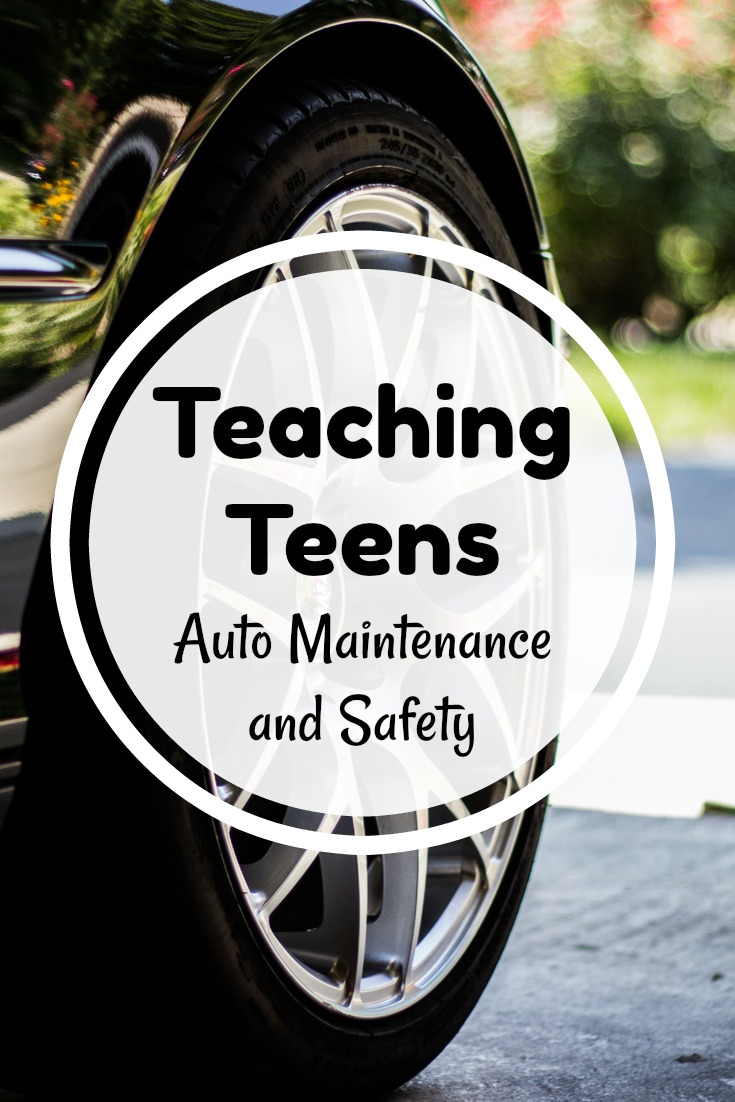 Join me in teaching teens auto maintenance and safety for the next four weeks, from airing up and changing tires, to checking oil, and staying safe on the road when they are alone.