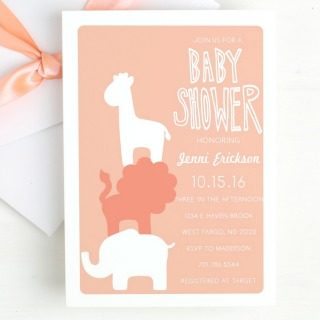 Basic Invite offers Elephant Themed Baby Shower Invitations and other adorable styles of baby shower invitations that can be edited.
