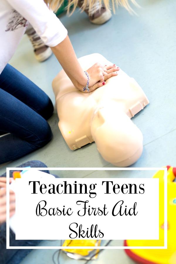 A Year of Teaching Teens Life Skills: Teach Teens Basic First Aid Skills