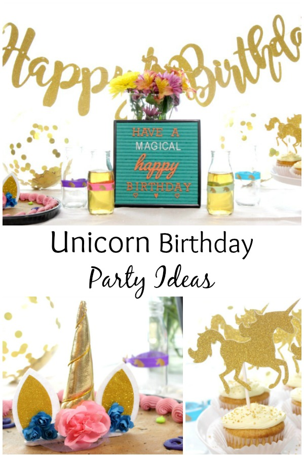 Easy Unicorn Birthday Party Ideas and magically epic Unicorn Birthday Party Supplies package.