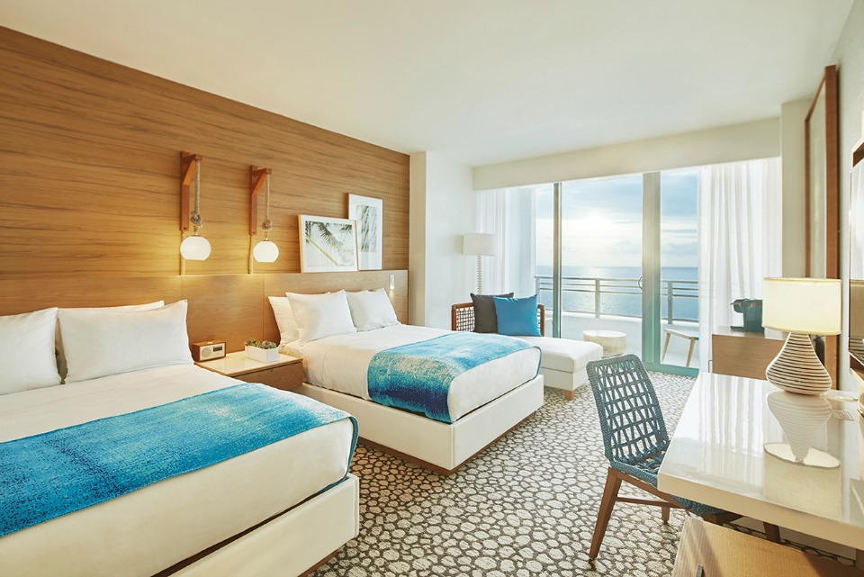 Guest Rooms at The Diplomat Beach Resort in Hollywood, Florida