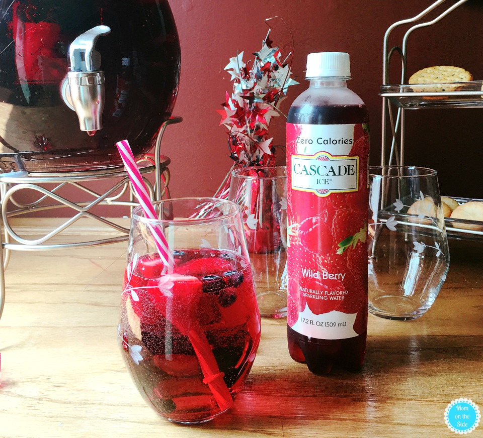 Cocktails with Cascade Ice: Red White and Blueberry Punch with Moscato