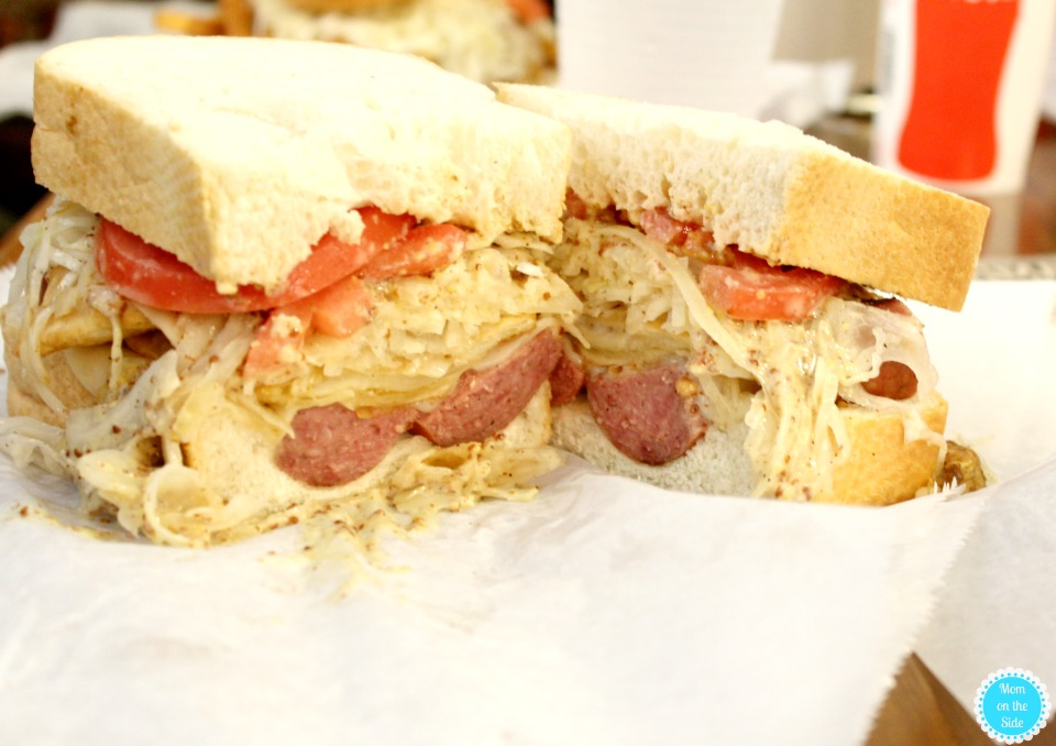 Perogi Sandwich at Primanti Bros in Pittsburgh