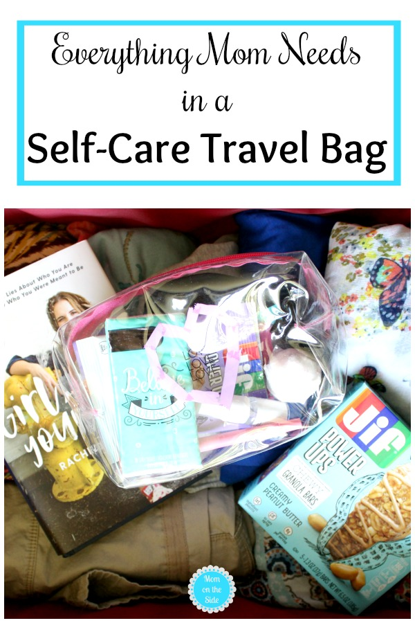 Self-Care isn't limited to at home. Here is what I pack and everything mom needs in a Self-Care Travel Bag to be adventurous! Including new Jif Power Ups at Target!