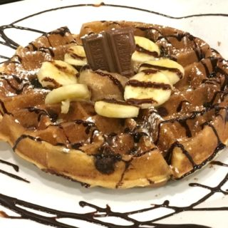 Funky Monkey Waffle at Waffles INCaffeinated in Pittsburgh