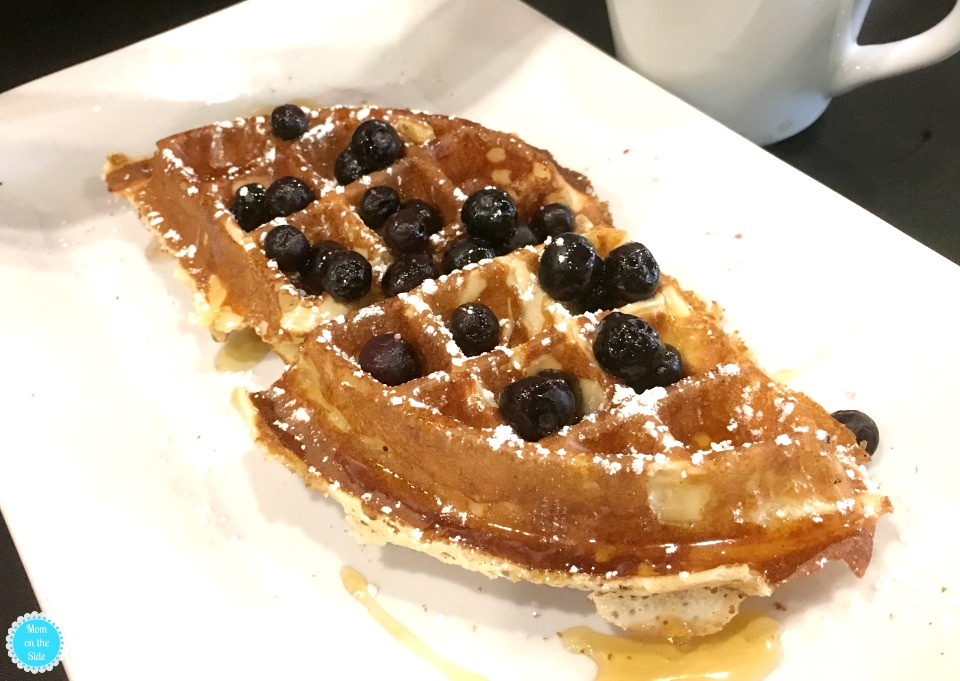 Fresh Blueberry Waffles at Waffles INCaffeinated in Pittsburgh