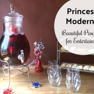 Perfect Products for Entertianing = Princess Moderna Glassware
