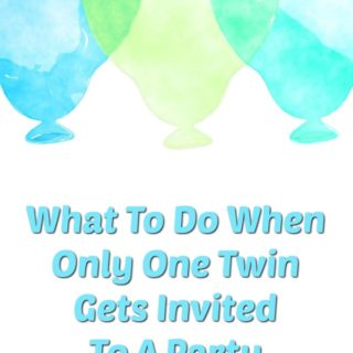 What To Do When One Twin Gets Invited To A Party