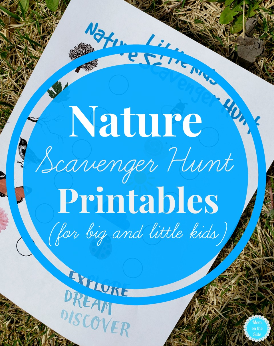 Printable Nature Scavenger Hunt for big and little kids.