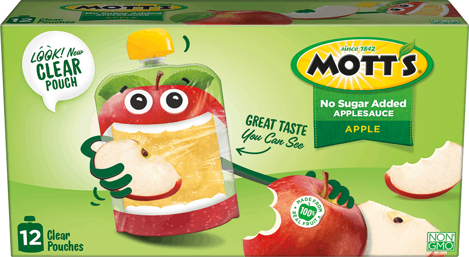 New Mott's Clear Pouches