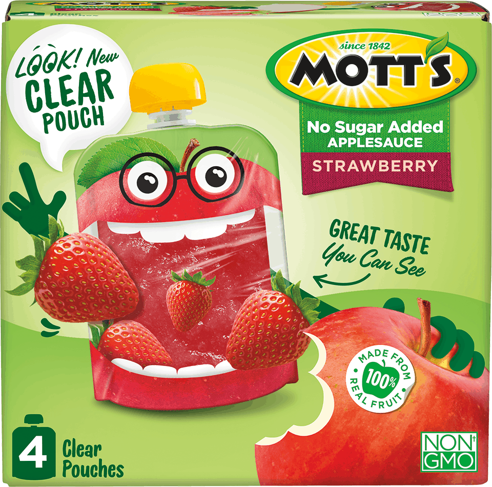 Mott's Applesauce Clear Pouches