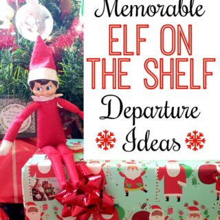elf on the shelf departure ideas for kids