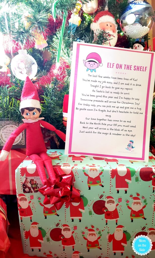 elf on the shelf departure ideas and letters