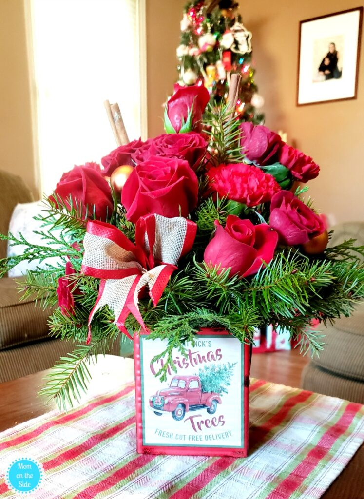 vintage-inspired christmas bouquet gift ideas