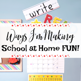 make school at home fun for kids