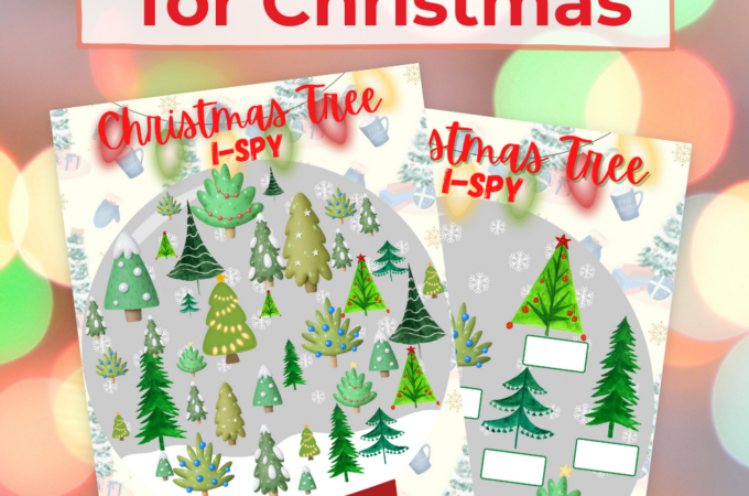 Printable Christmas Tree I Spy Game