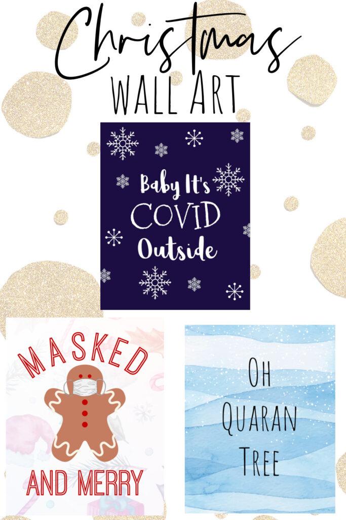 2020 christmas wall art printables