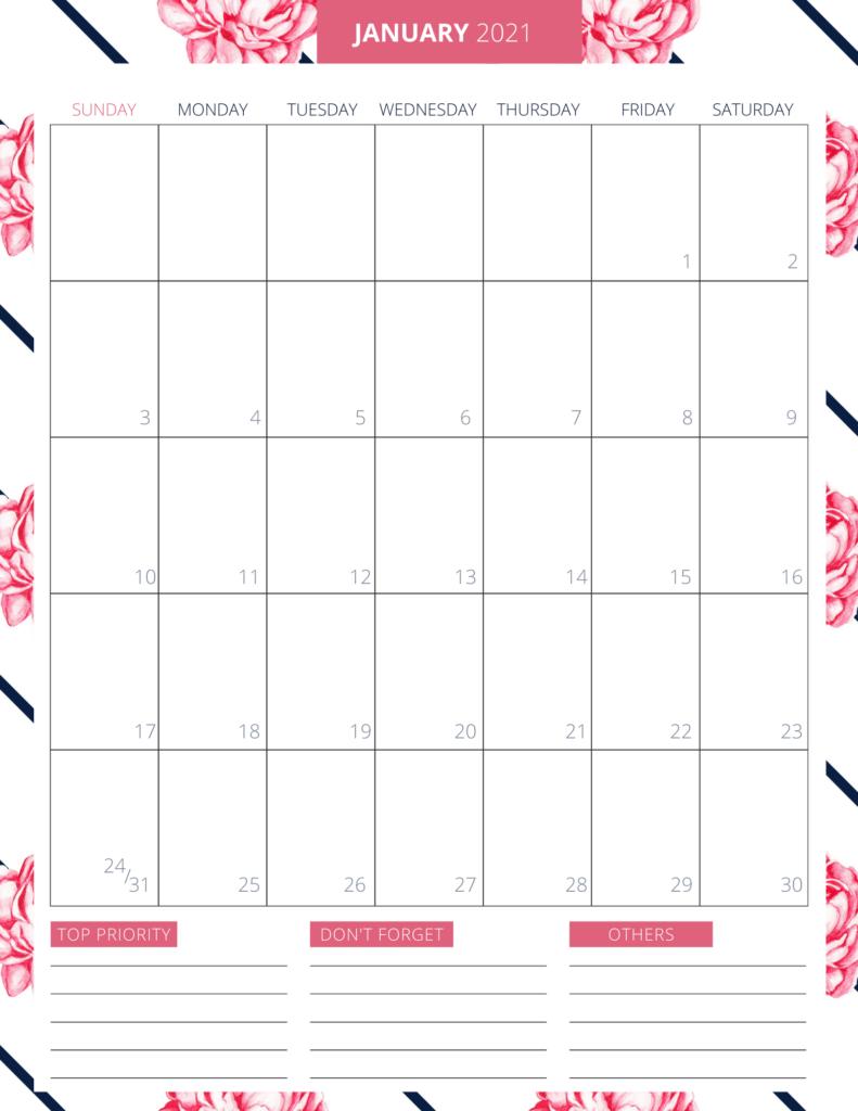 Printable 2021 Planner - Free Printable to Keep You Organized