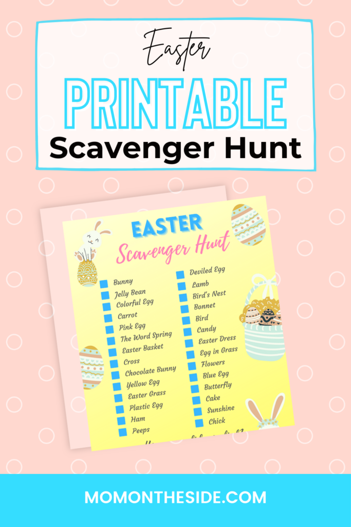 printable easter scavenger hunt items