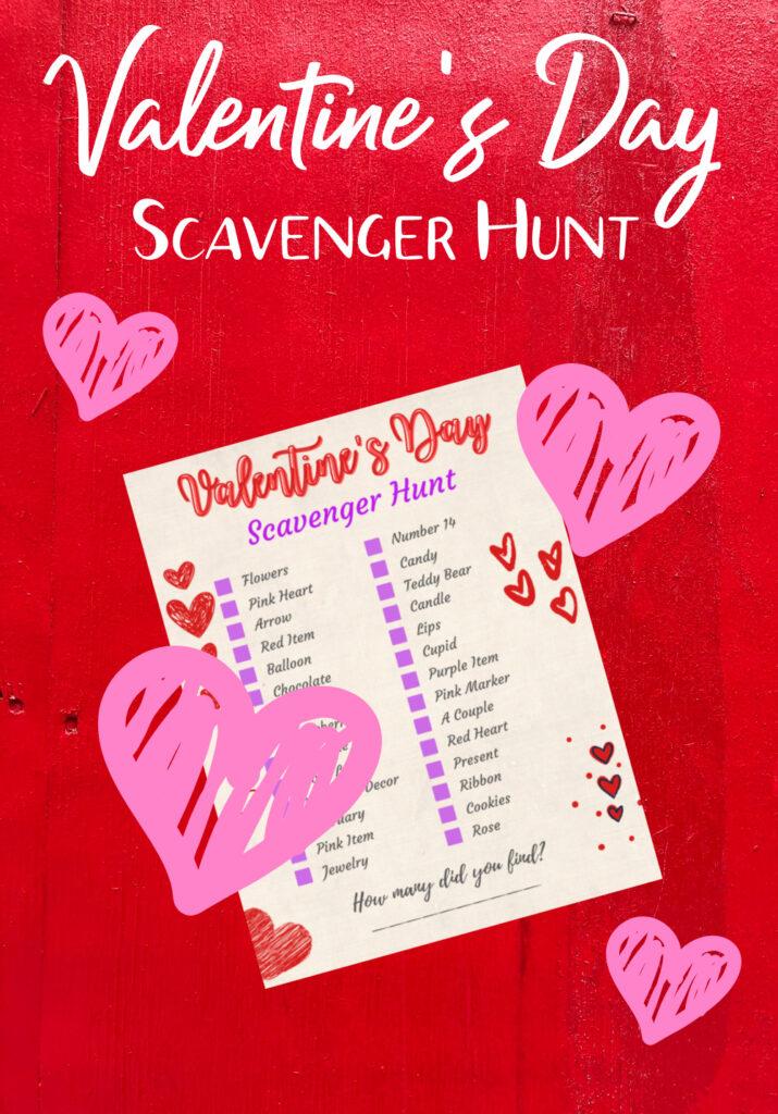 Printable Valentine Scavenger Hunt