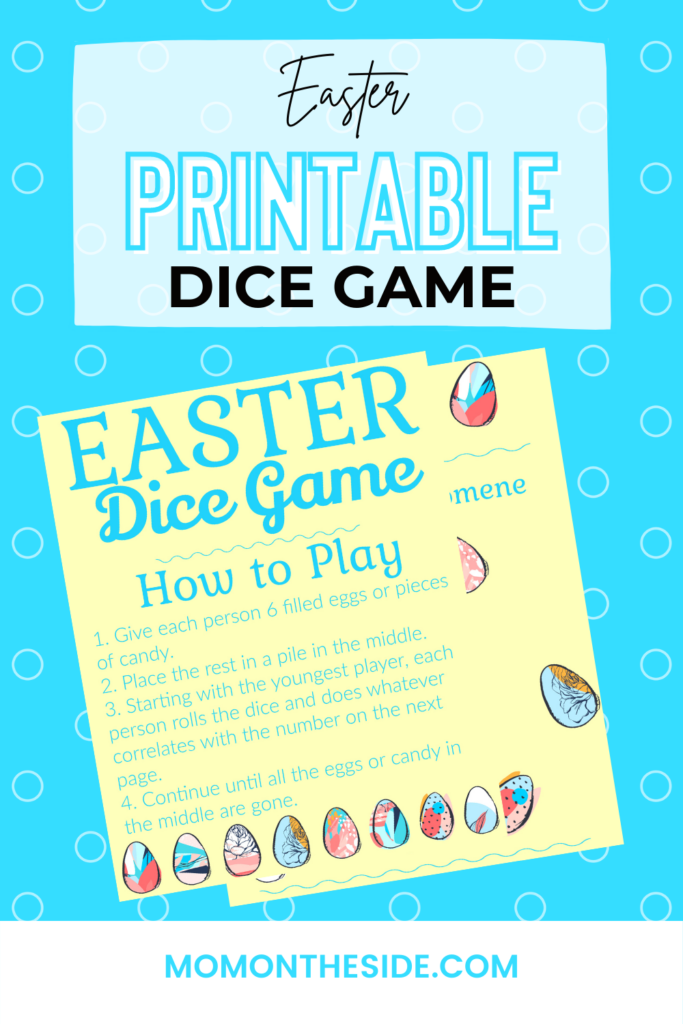 PRINTABLE EASTER DICE GAME