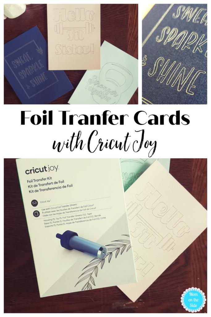 foil transfer cards fitness theme